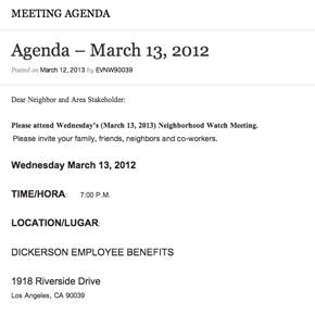 Agenda – March 13,2012