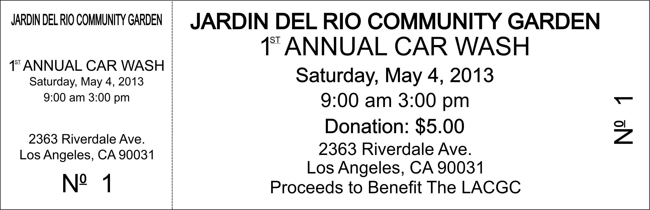 car wash fundraiser tickets template .