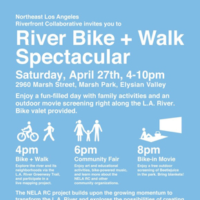 River Bike + Walk Spectacular – April 27th, 4-10pm