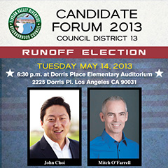 CD-13 Runoff Election Candidate Forum – May 14, 2013