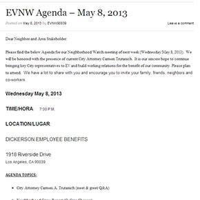 EVNW Agenda – May 8,2013