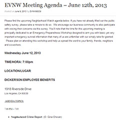 EVNW Meeting Agenda – June 12th, 2013