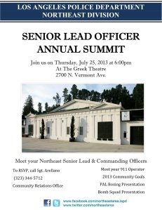 Senior Lead Officer Summit 2013