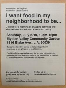 I want food in my neighborhood tobe..