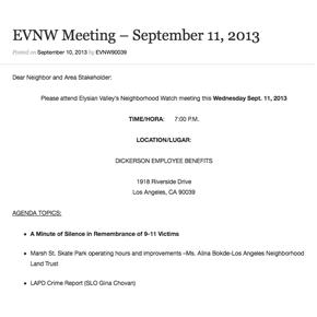 EVNW Meeting Agenda – September 11,2013