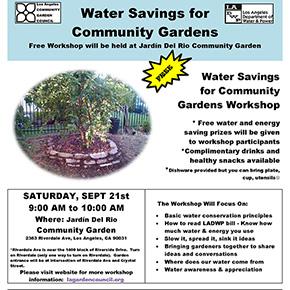 Water Savings for Community GardensWorkshop