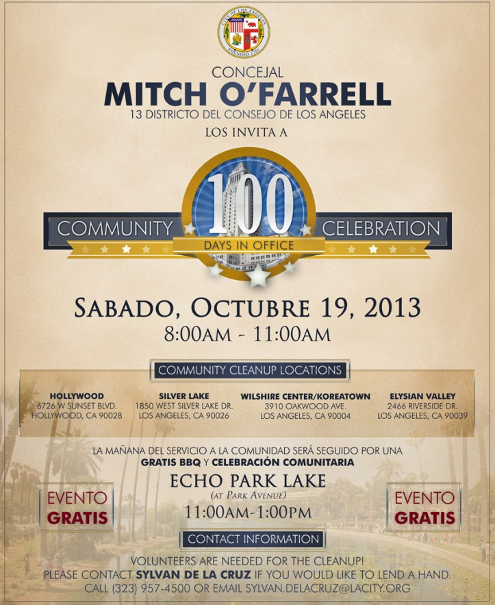100 Day Community Celebration Spanish