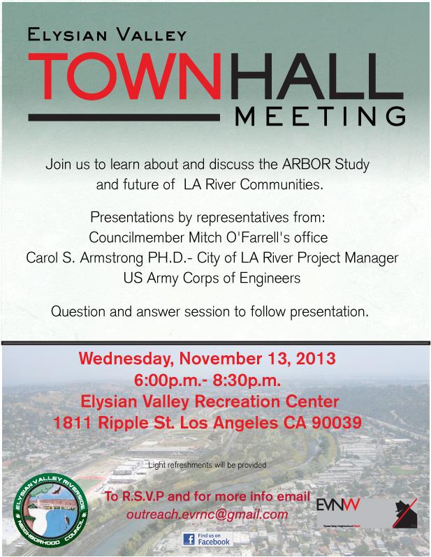 EV Townhall Meeting LA River Arbor study November 13 2013 EVNW