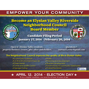 Elysian Valley Neighborhood Council Elections are Coming – YOU Can Be a Candidate!