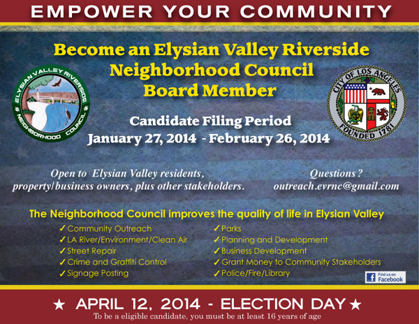 2014 EVRNC Elections Flyer