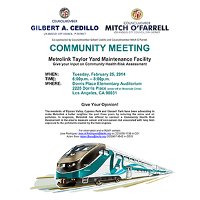 Metrolink Community Meeting