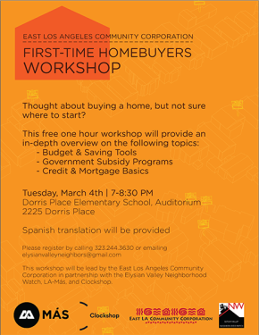 First-time Homebuyer's Workshop March 4, 2014