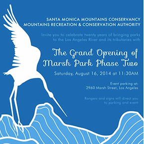 Invitation to Grand Opening of Marsh Park PhaseTwo