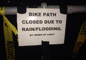 Bike Path Closed due to Rain/Flooding