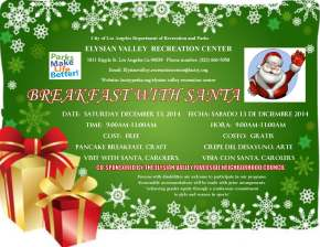 Breakfast with Santa in Elysian Valley