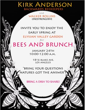 Bees and Brunch – Saturday, January 24th at 10am