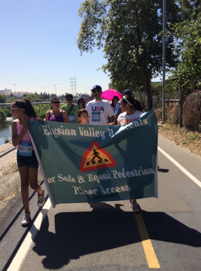 Elysian Valley stakeholders walked for Safety on the LA River Pedestrian/ Bike path